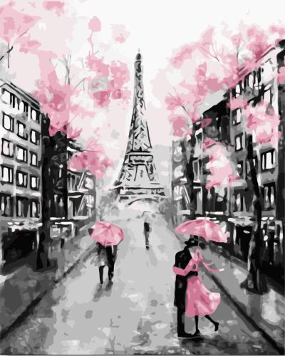 2021 Beautiful Eiffel Tower Diy Landscape Paint By Numbers Kits Uk WM833