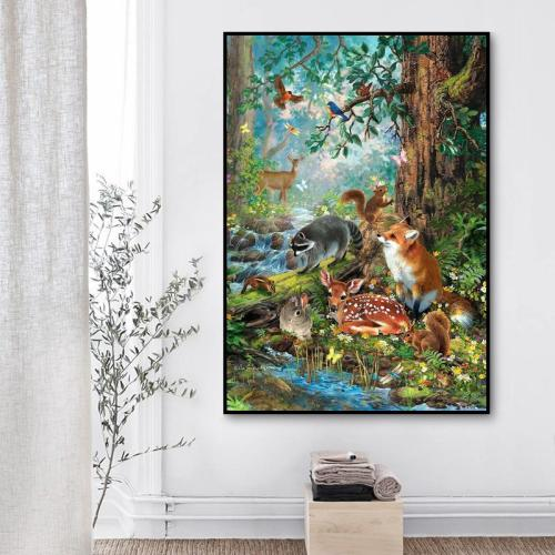 2021 Cartoon Animals Diy Paint by Numbers Kits Hot Sale UK VM96430
