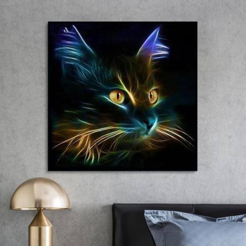 2021 Black Cat Diy Paint By Numbers Kits UK VM94535