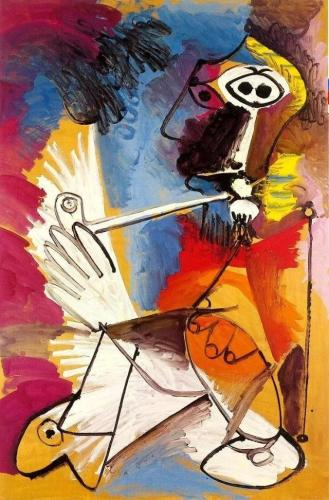2021 Modern Art Pablo Picasso Smoker Paint By Numbers Kits Uk VM92185