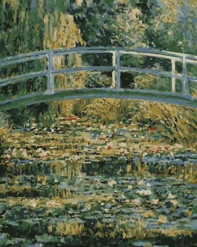 2021 Beautiful Claude Monet's Bridge Landscape Diy Paint By Numbers Kits Uk WM872