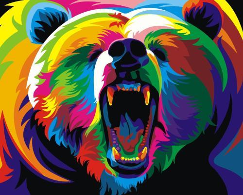2021 Best Hot Sale Beautiful Bear Paint By Numbers Kits WM005