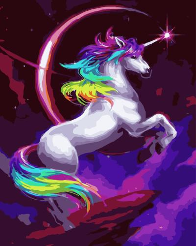 2021 Fantasy Dream Colorful Unicorn Diy Paint By Numbers Kits Uk WM130