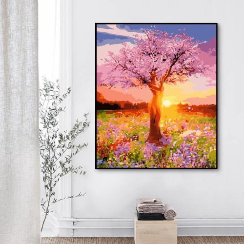 2021 Tree Diy Paint By Numbers Kits Uk XZ159