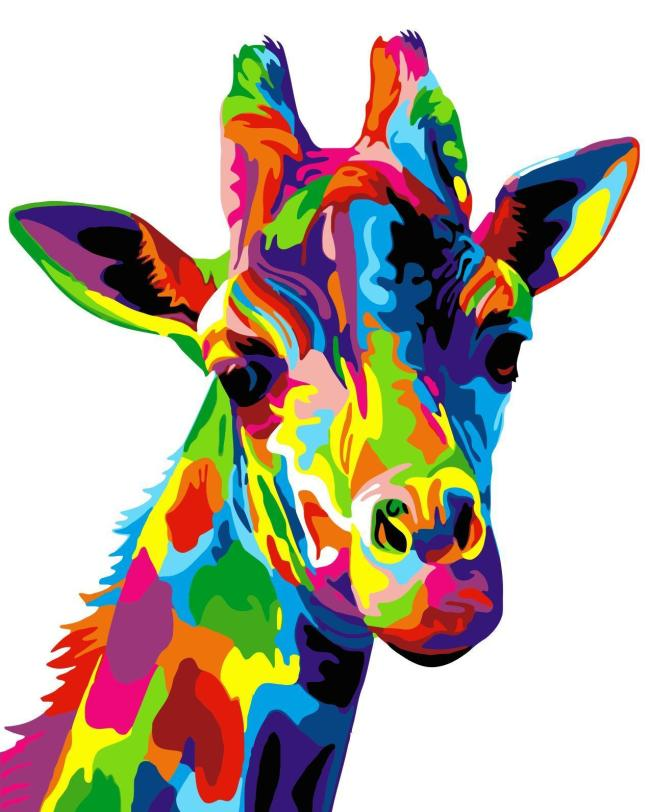 2021 Colorful Watercolor Style Giraffe Diy Paint By Numbers Kits Hot Sale Uk WM501