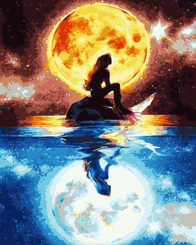 2021 Best Fantasy Style Mermaid Paint By Numbers Kits Uk WM826