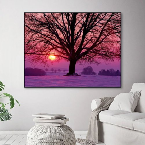 2021 Best Hot Sale Landscape Tree Paint By Numbers Kits Uk VM90796