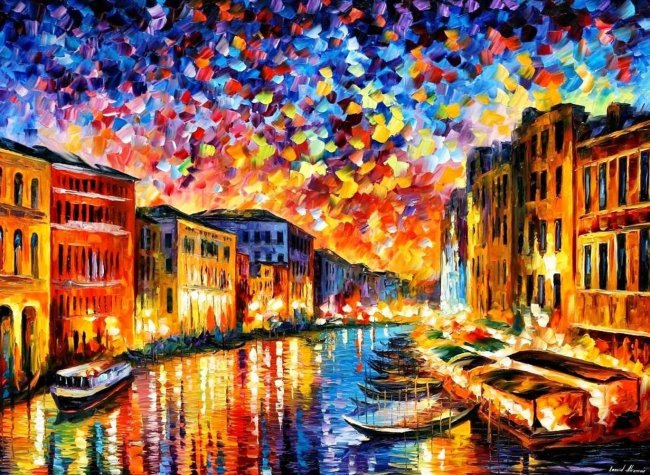 2021 Colorful Modern Art Landscape Town Paint By Numbers Uk VM90362