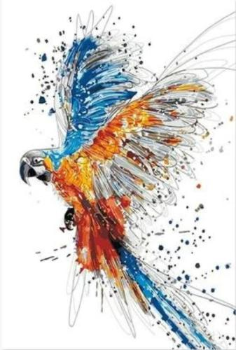 2021 New Hot Sale Parrot Paint By Numbers Kits Uk BN92709