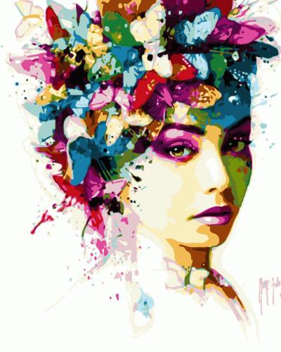 2021 Portrait Girl Diy Paint By Numbers Kits UK WM759