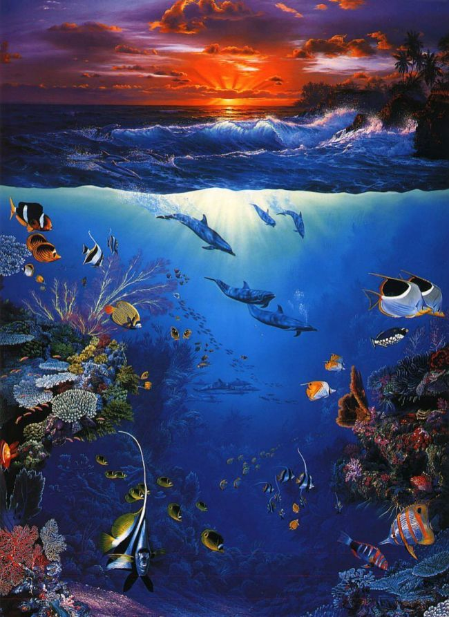 2021 Beautiful Landscape Under The Sea Paint By Numbers Kits Uk VM92391