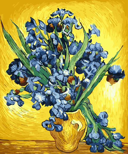 2021 New Arrival Hot Sale Oil Painting Style Flower Diy Paint By Numbers Kits UK WM067