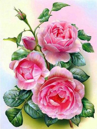 2021 Flower Paint By Numbers Kits Uk NP1733