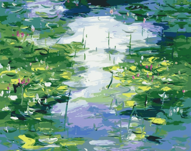 2021 Claude Monet's Beautiful Water Lily Diy Paint By Numbers Kits Hot Sale Uk VM91240