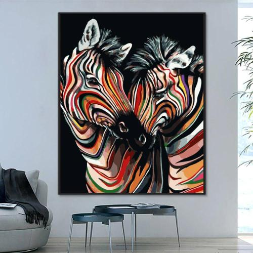 2021 Zebra Diy Paint By Numbers Kits Uk WM815