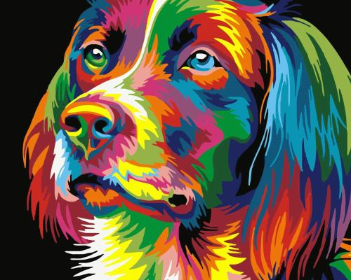 2021 Pop Art Dog Diy Paint By Numbers Kits Uk WM230