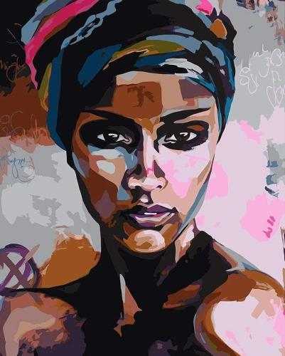 African Woman Portrait Diy Paint By Numbers Kits Uk VM93045
