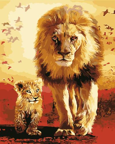 2021 Best Hot Sale Lion Diy Paint By Numbers Kits Uk PH9359