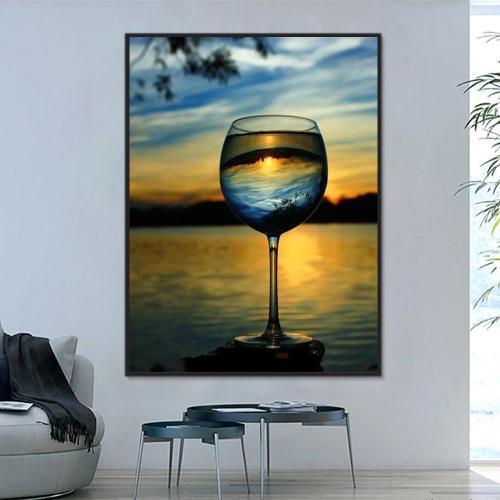 2021 Beautiful Sunset Paint By Numbers Kits Uk PH9361