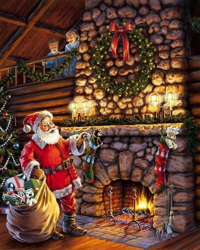 2021 Christmas Series Diy Paint By Numbers Kits Uk NP1121