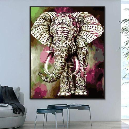 2021 Best Birthday Gift Wall Decor Elephant Diy Paint By Numbers Kits Uk WM1327
