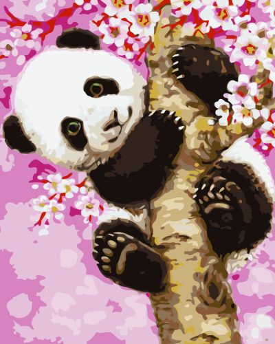 2021 Lovely Panda On the Tree Paint By Numbers Kits Uk WM666