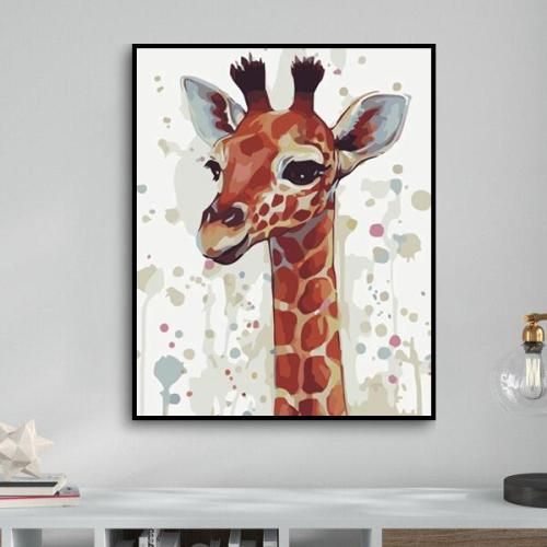 2021 Best Cute Giraffe Diy Paint By Numbers Kits Online Hot Sale Uk YM269