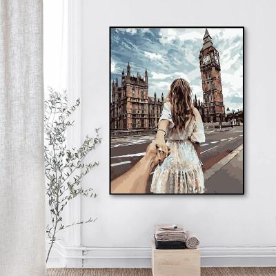 2021 Best Hot Sale Landscape Street Lovers Paint By Numbers Kits Uk WM441