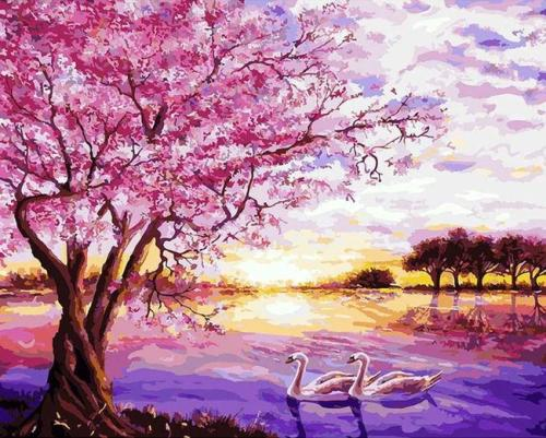 2021 New Arrival Hot Sale Landscape Nature Paint By Numbers Kits Uk GX609