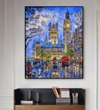 2021 Best Hot Sale Big Ben Paint By Numbers Kits UK XB681