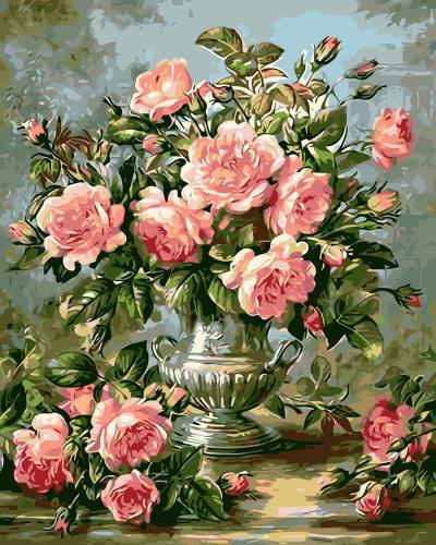 2021 Oil Painting Style Flower Diy Paint By Numbers Kits SY089