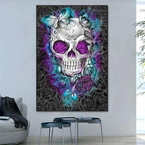 2021 New Hot Sale Flower Skull Diy Paint By Numbers Kits Uk VM90072