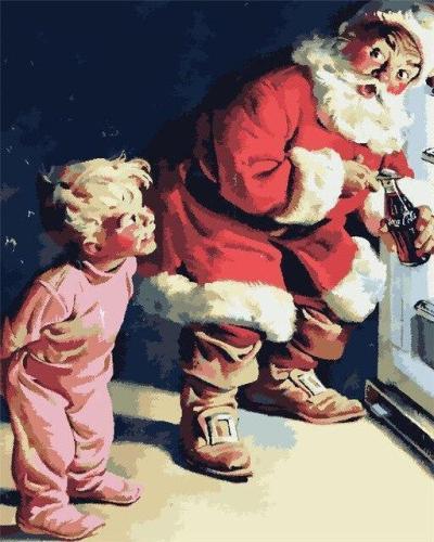 2021 Christmas Series Diy Paint By Numbers Kits Uk NP1138