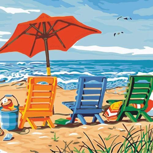 2021 Best Hot Sale Landscape Beach Paint By Numbers Kits Uk VM92015