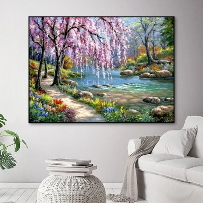 2021 Best Hot Sale Landscape Nature Lake Paint By Numbers Kits Uk VM91379