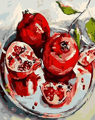 2021 New Arrival Delicious Pomegranate Fruit Diy Paint By Numbers Kits Hot Sale UK BN97816