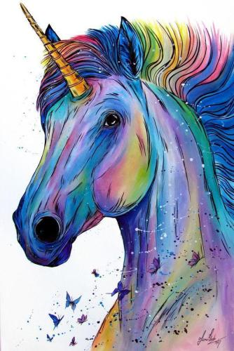 2021 Unicorn Diy Paint By Numbers Kits Uk VM90034