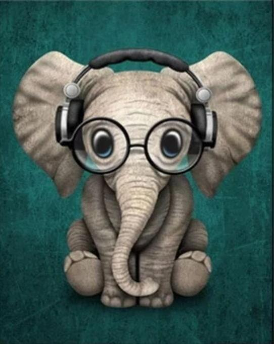 2021 Best Cute Cartoon Animal Elephant Diy Paint By Numbers Kits Uk VM92294