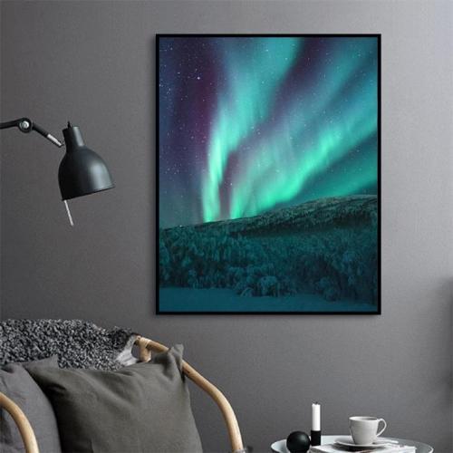 2021 Beautiful Galaxy Marvellous Aurora Diy Paint By Numbers Kits Uk VM00177