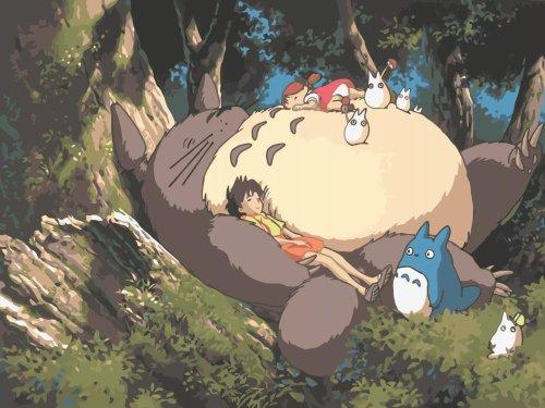 2021 The Totoro Series Cartoon Diy Paint By Numbers Kits Uk BN92458
