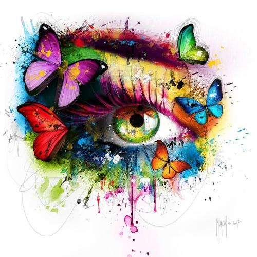 2021 Hot Sale Special Colorful Eyes Butterfly Diy Paint By Numbers Kits UK VM94933