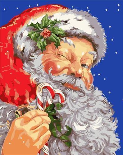 2021 Christmas Series Diy Paint By Numbers Kits Uk WM124