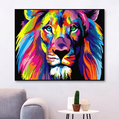 2021 New Arrival Hot Sale Lion Paint By Numbers Kits Uk WM184
