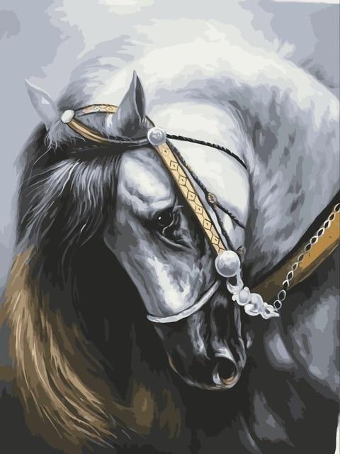2021 Modern Art Horse Diy Paint By Numbers Kits Hot Sale Uk VM92633