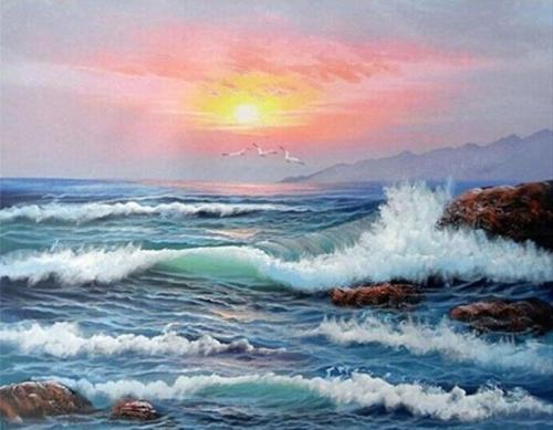 2021 Best Hot Sale Landscape Sea Paint By Numbers Kits Uk VM91324