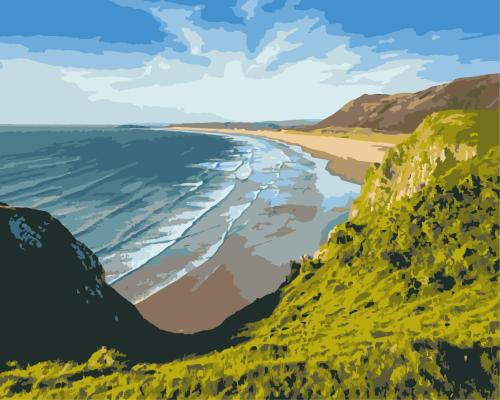 2021 New Arrival Hot Sale Landscape Beach Paint By Numbers Kits Uk WM1545