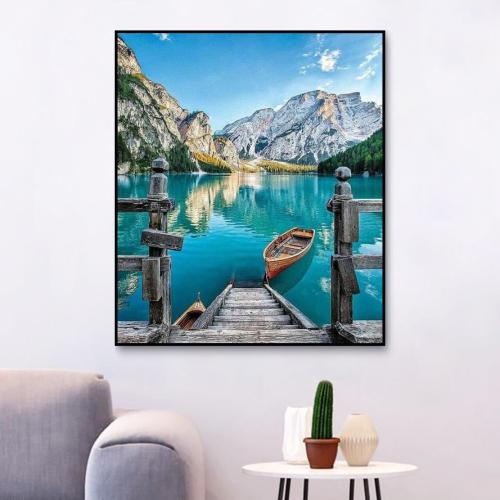 2021 Hot Sale Landscape Diy Paint By Numbers Kits Uk RA3303