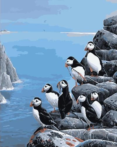 2021 New Hot Sale Penguin Paint By Numbers Kits Uk WM444
