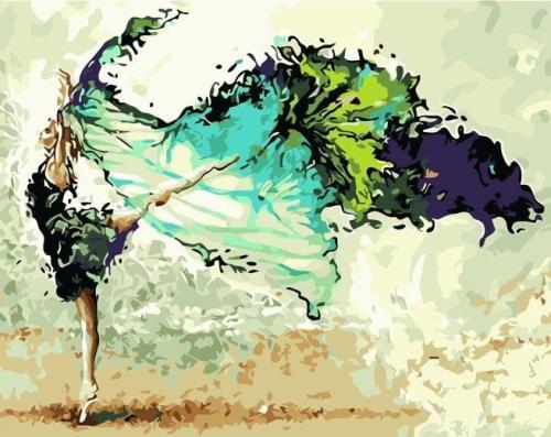 2021 Portrait Dancer Paint By Numbers Kits Uk Q2602
