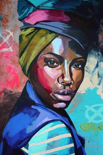 2021 Beautiful Modern Art African Woman Portrait Paint By Numbers Kits Uk VM53048